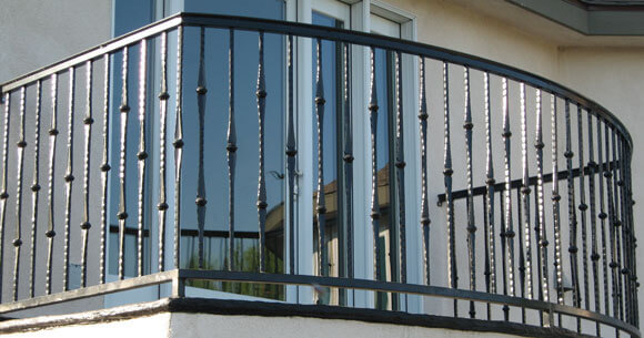 Balcony Amp Stair Railings Decorative Wrought Iron Orange