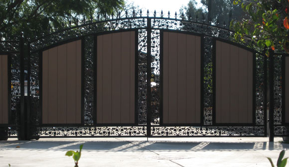 Decorative iron fencing folding security gates doors