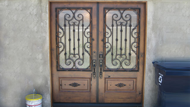Wrought Iron Doors Orange County Ca Ironglass Entry Courtyard