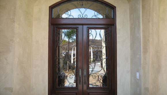 Decorative wrought iron entry doors orange county ca custom made iron glass doors Exterior doors installation calgary