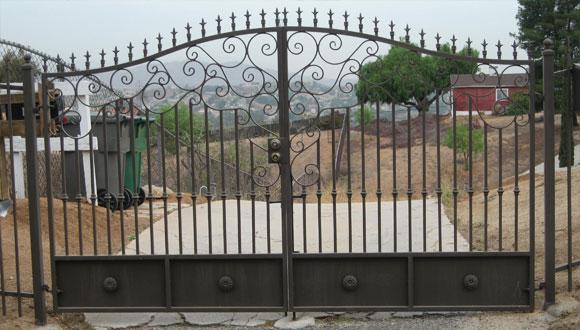 Decorative wrought iron entry gates orange county ca