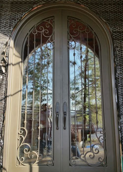 Custom arched double door, Corona