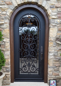 Front entry door fabrication in Laguna Beach, Ca