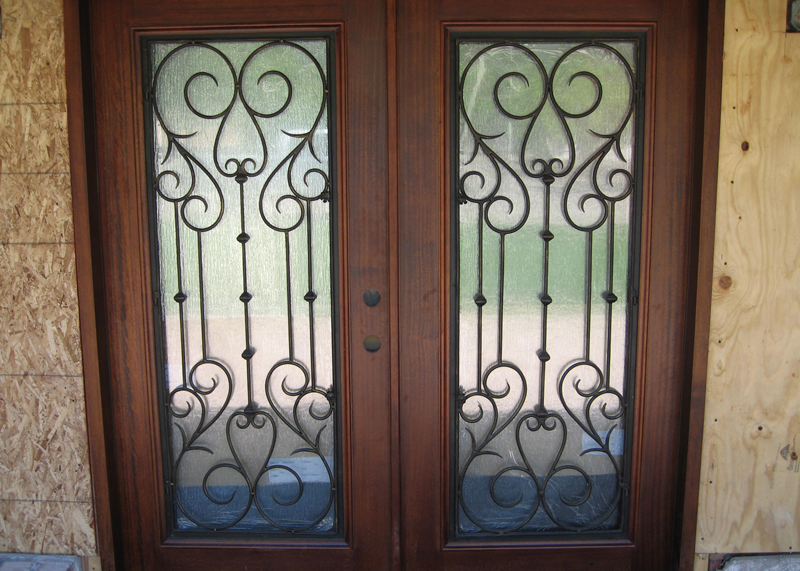 Iron Glass Door Installation
