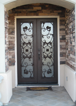 Decorative Dual Panel Iron Door