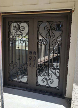 Wrought iron entry door in Dana Point