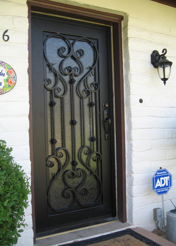 Iron Single Door Design
