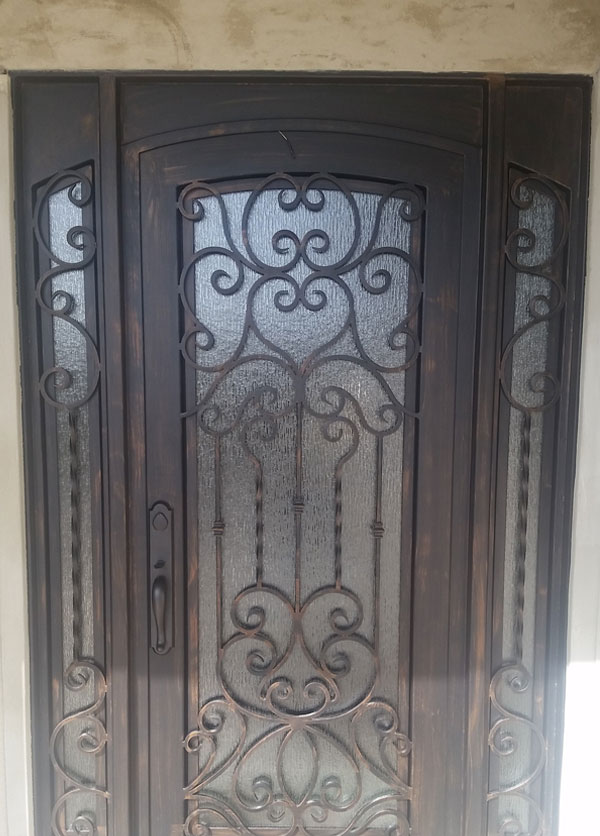 Orange Iron Fencing Entry Driveway Property Gates