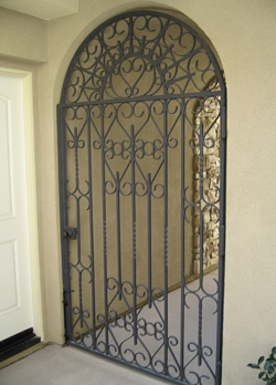 Wrought Iron Exterior Door