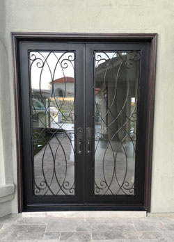 Ornamental iron door fabrication, Dana Point