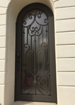 French Style Arched Iron Door Irvine