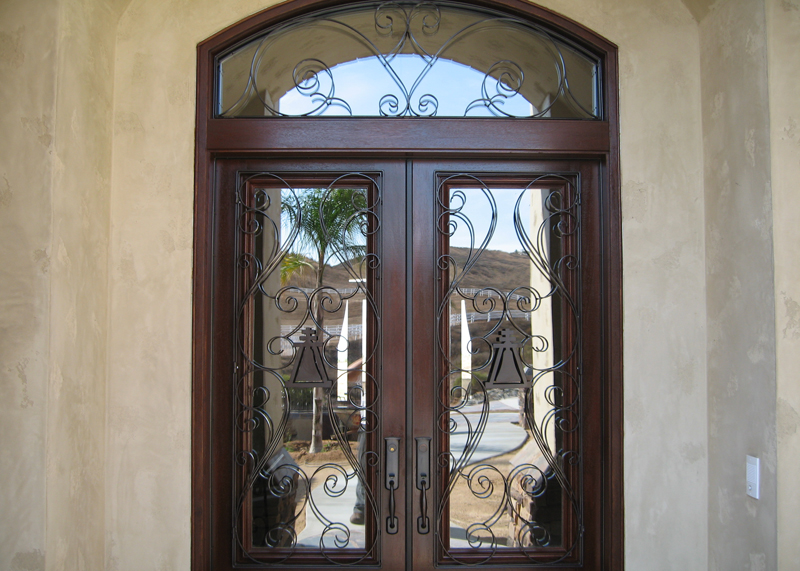 Wrought Iron Wine Cellar Doors