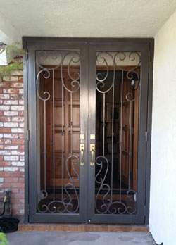Wrought iron security door in Mission Viejo, CA