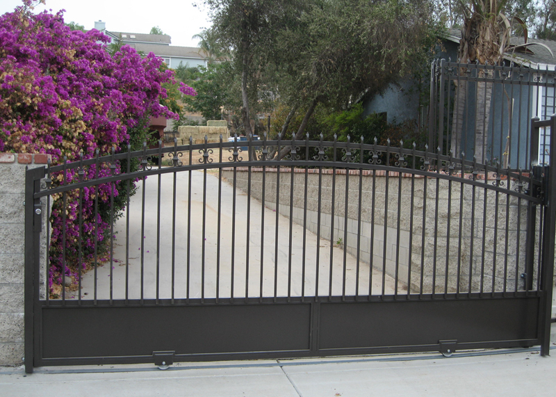 Newport Beach Single Driveway Gate