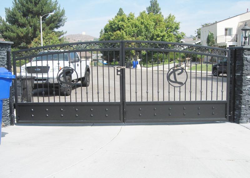 Wrought Iron Gates Orange County Ca Entry Driveway