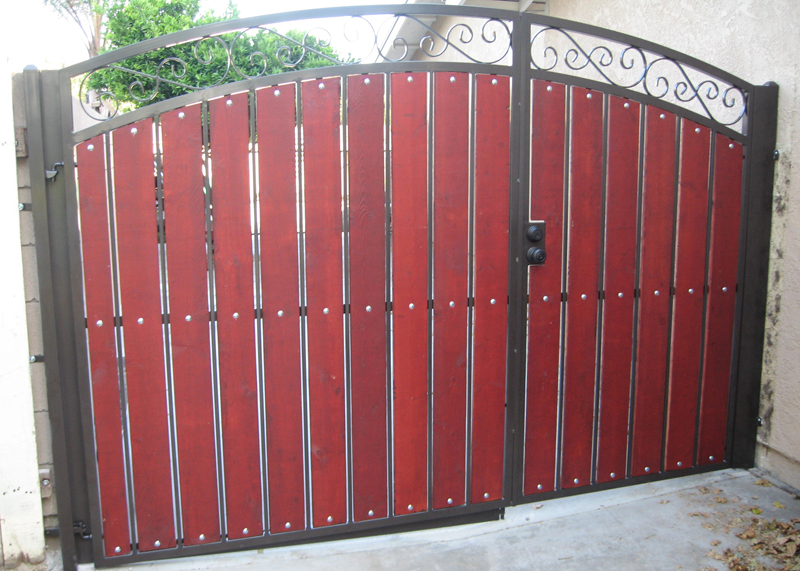 Wrought Iron & Wood Gates