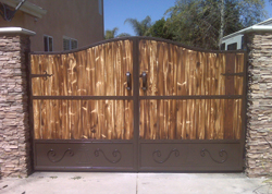 Residential Wood Driveway Gates