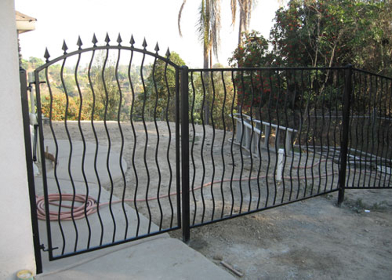 Wrought Iron Fence Gate Installation