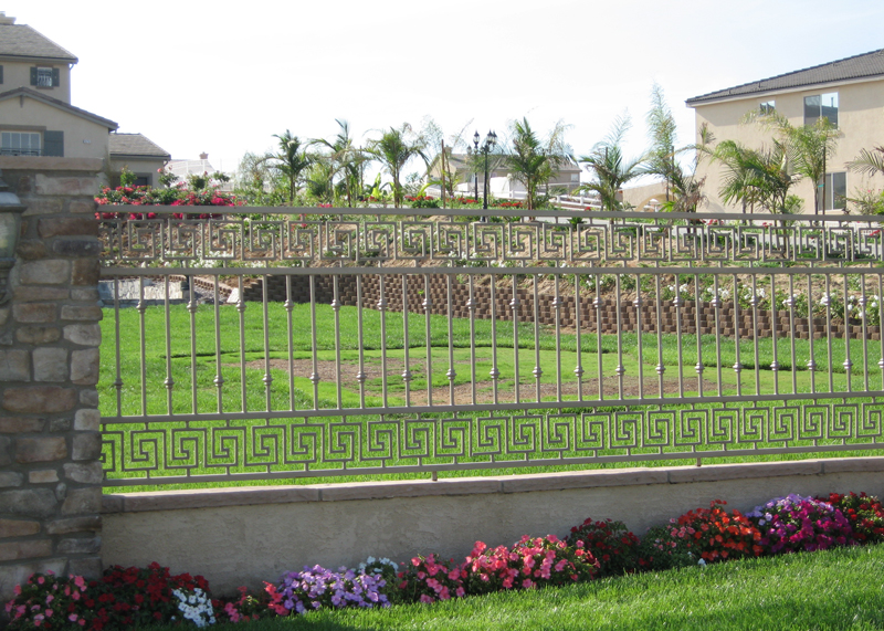 Ornamental Iron Property Fence