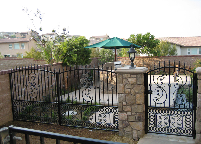 Residential Custom Iron Fence & Gate