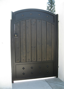 Small Entry Gate With Wood