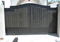 Decorative Wooden Iron Security Gate