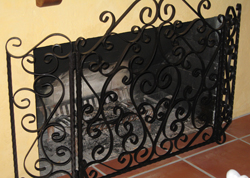 Fire Pit Iron Guard Railing