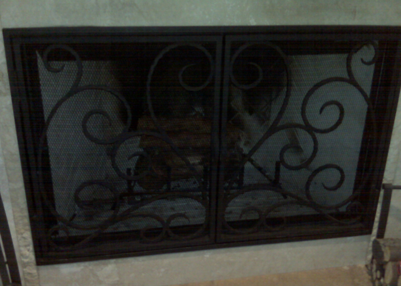 Fireplace Iron Doors Newport Beach