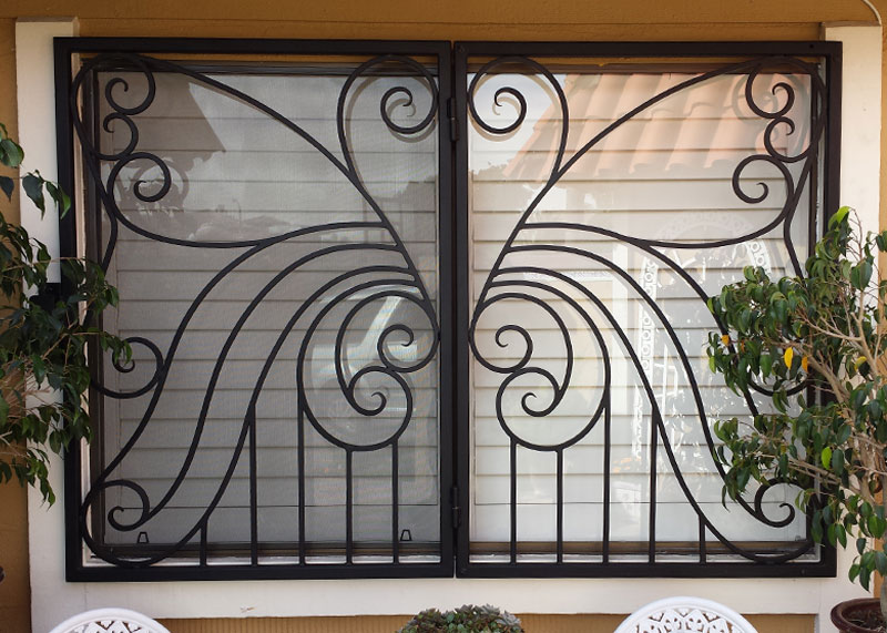 Wrought Iron Fencing Gates Security Doors Balcony Stair