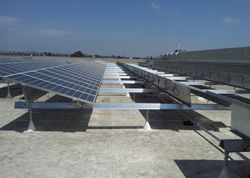 Solar Panel Racking System the Grove in West Los Angeles