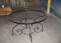 Round Table Iron Frame