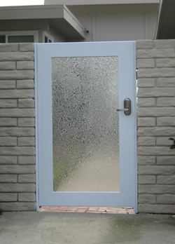 Iron Framed Glass Door