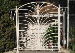 Decorative White Coated Pedestrian Gate