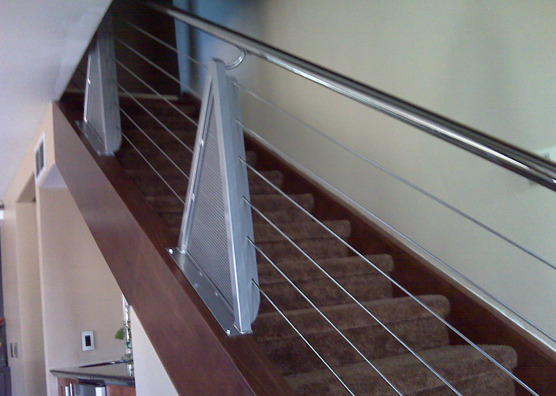 modern residential stair railings