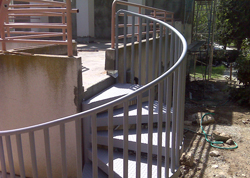 Outdoor Iron Staircase Rails