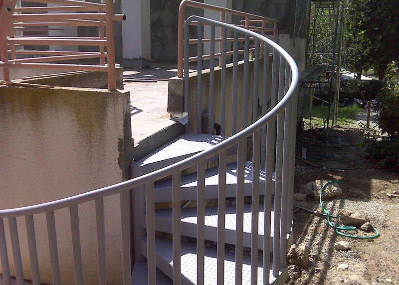 Mission Viejo Outdoor Iron Staircase