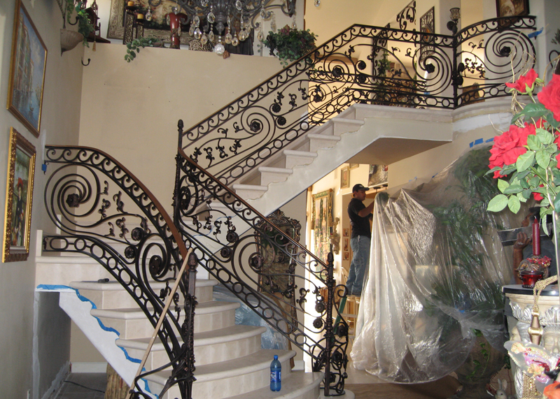 Indoor Stair Railing Installation