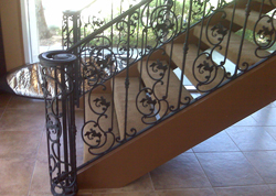 Decorative Steel Staircase Handrails