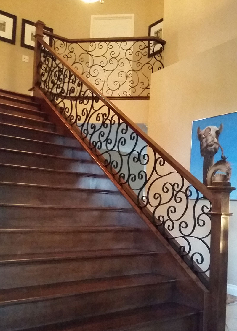 Indoor Iron Stair Railing Lake Forest