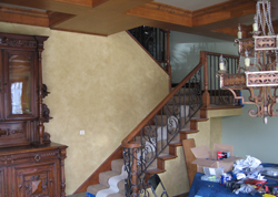 Home Interior Wooden Frame Stair Handrails