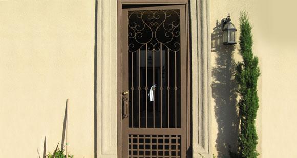 Residential Security Doors : Wrought iron security doors screens orange county ca