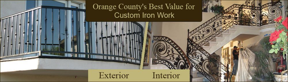 Mission Viejo Deck, Stair Iron Railings