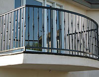 Home Outdoor Deck Iron Rails